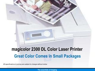 magicolor 2300 DL Color Laser Printer