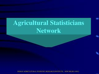 Agricultural Statisticians Network