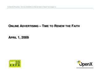 Online Advertising – Time to Renew the Faith April 1, 2009
