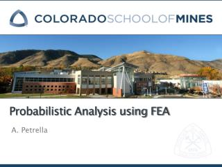 Probabilistic Analysis using FEA