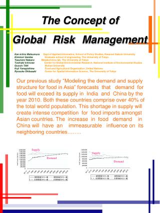 The Concept of  Global Risk Management