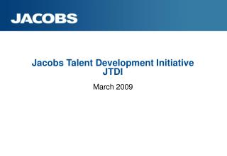 Jacobs Talent Development Initiative JTDI
