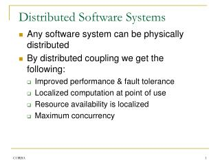 Distributed Software Systems