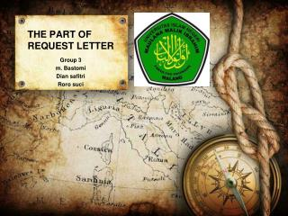 THE PART OF REQUEST LETTER