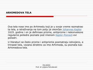 ARHIMEDOVA TELA