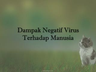 Dampak Negatif Virus Terhadap Manusia