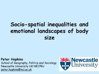 Socio-spatial inequalities and emotional landscapes of body size
