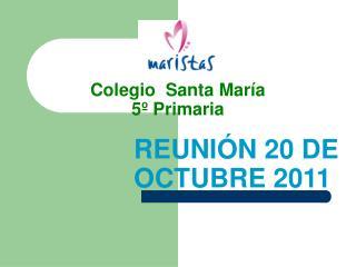 Colegio  Santa María 5º Primaria