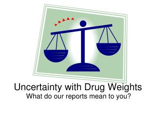 Uncertainty with Drug Weights