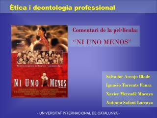 - UNIVERSITAT INTERNACIONAL DE CATALUNYA -