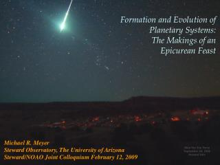 Formation and Evolution of  Planetary Systems:  The Makings of an  Epicurean Feast
