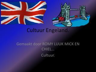 Cultuur Engeland.