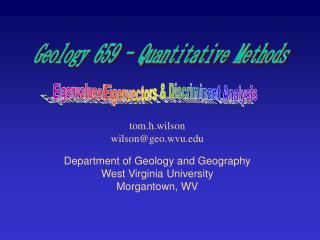 Eigenvalues/Eigenvectors & Discriminant Analysis