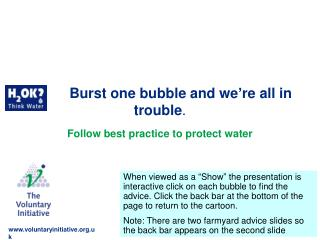 Burst one bubble and we're all in trouble .