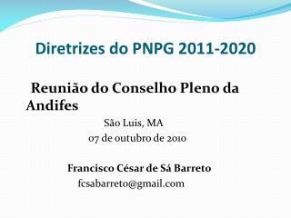 Diretrizes do PNPG 2011-2020