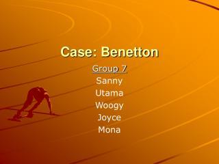 Case: Benetton