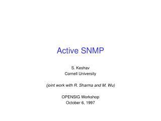 Active SNMP