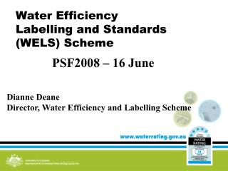 Water Efficiency Labelling and Standards (WELS) Scheme