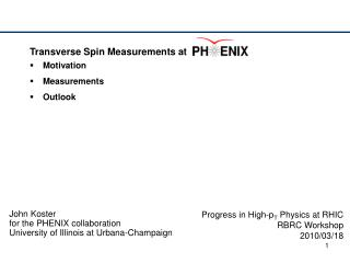 Transverse Spin Measurements at