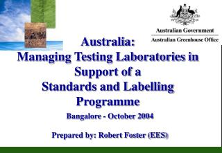 Australia:  Managing Testing Laboratories in Support of a Standards and Labelling Programme