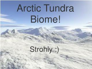 Arctic Tundra Biome!