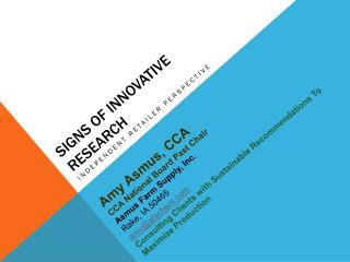 Signs of Innovative Research