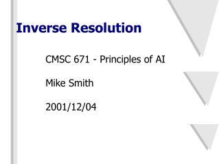 Inverse Resolution