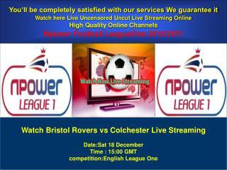 Bristol Rovers vs Colchester Live Stream Online HERE
