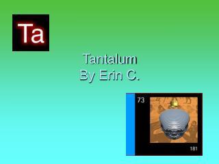 Tantalum By Erin C.