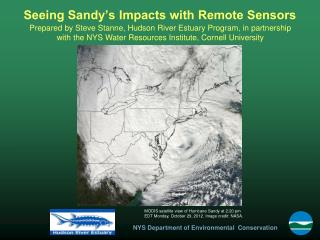 Seeing Sandy's Impacts with Remote Sensors