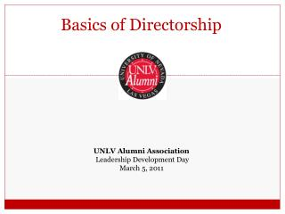Basics of Directorship