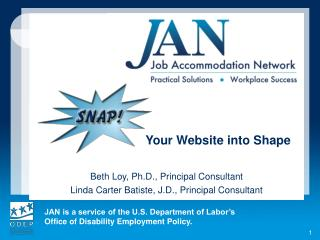 Your Website into Shape Beth Loy, Ph.D., Principal Consultant