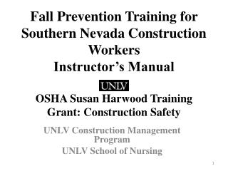 UNLV  Construction Management  Program UNLV School of Nursing
