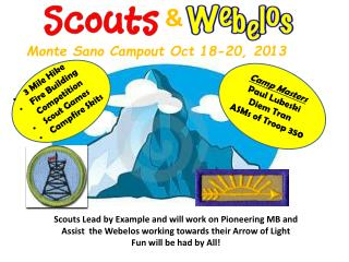Monte Sano Campout Oct 18-20, 2013