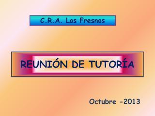 REUNIÓN DE TUTORÍA