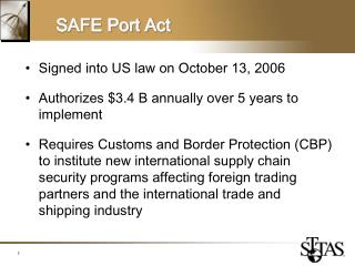 SAFE Port Act