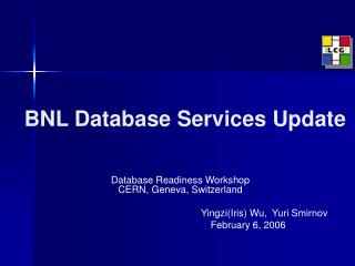 BNL Database Services Update