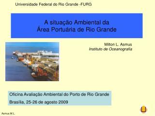 A situa��o Ambiental da  �rea Portu�ria de Rio Grande