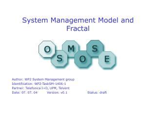 System Management Model and Fractal