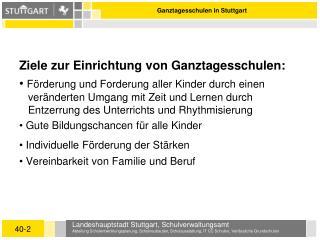 Ganztagesschulen in Stuttgart