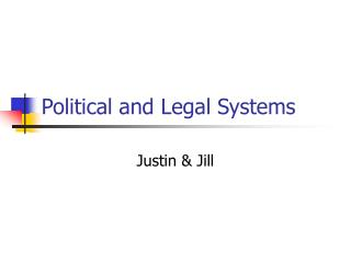 Political and Legal Systems