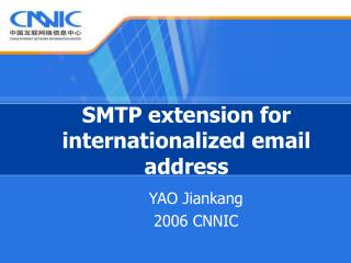 SMTP extension for internationalized email address