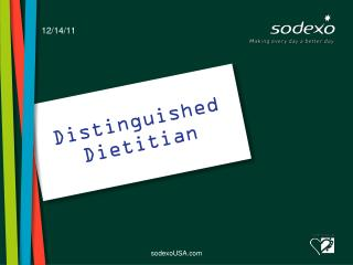 Distinguished Dietitian