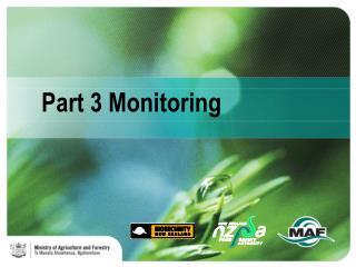 Part 3 Monitoring