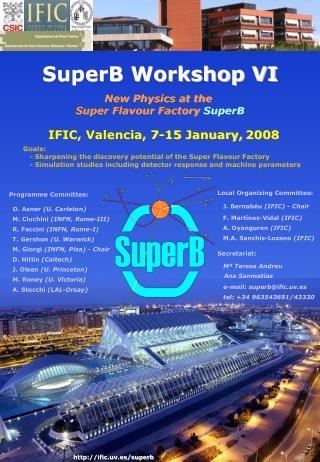 IFIC, Valencia, 7-15 January, 2008
