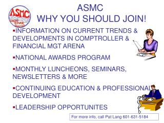 ASMC  WHY YOU SHOULD JOIN!