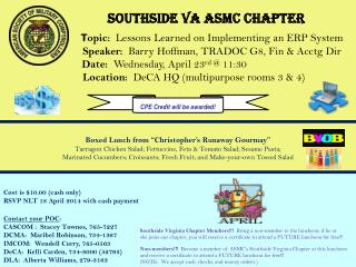 SOUTHSIDE VA ASMC CHAPTER