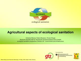 Agricultural aspects of ecological sanitation