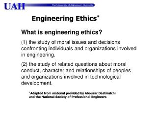 What is engineering ethics?