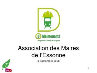 Association des Maires de l'Essonne 4 Septembre 2008